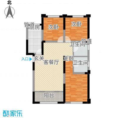 第二城闽南印象3居户型3室2厅2卫1厨