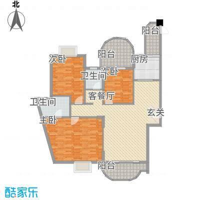 毅宏公寓户型3室2厅2卫1厨