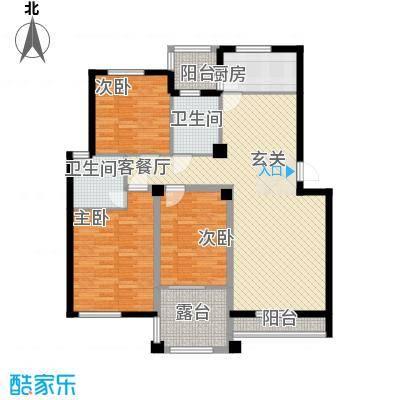 青林嘉园124.00㎡A户型3室2厅2卫1厨