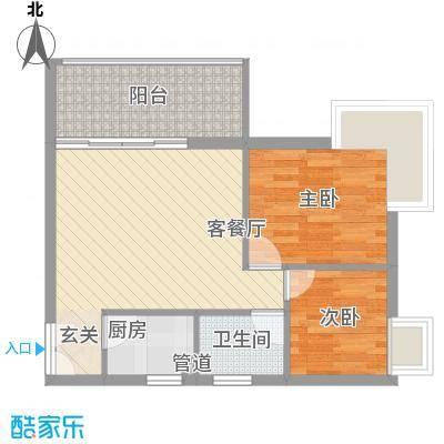 星河绿洲66.37㎡C1栋0户型2室1厅1卫1厨