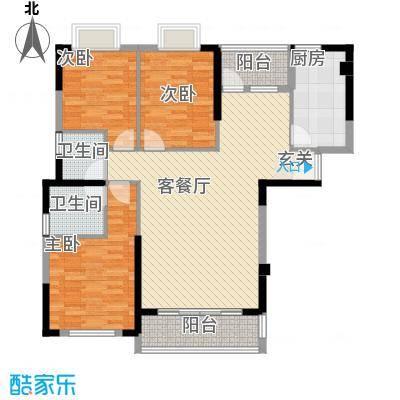 福星大地户型3室2厅2卫1厨