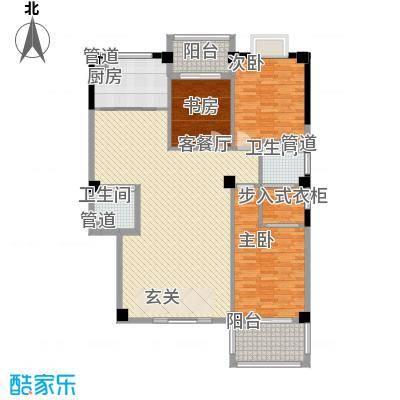 彩虹湾佳园145.63㎡二期4#楼10层C3户型3室2厅2卫1厨