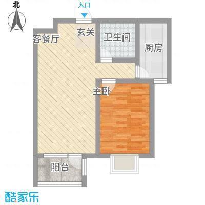 华福国际67.00㎡A5户型1室1厅1卫