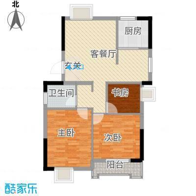 汉景嘉园2.00㎡D户型3室2厅1卫1厨