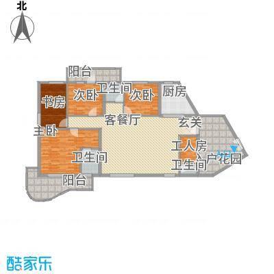 电化宿舍东渡华城户型4室2厅2卫1厨