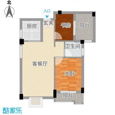 汉景嘉园7.00㎡B户型2室2厅1卫1厨