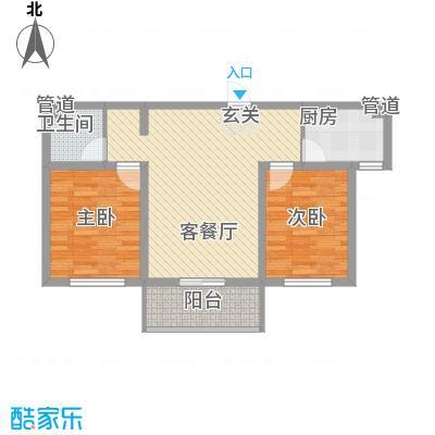 裕丰惠泽园87.67㎡M户型2室1厅1卫1厨