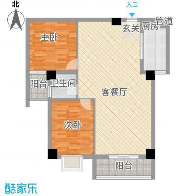 海上明珠家园15.84㎡2单元02、03户型2室2厅1卫1厨