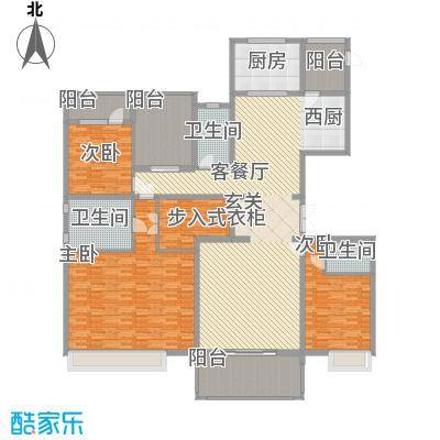 中海紫御公馆住宅251.00㎡户型4室