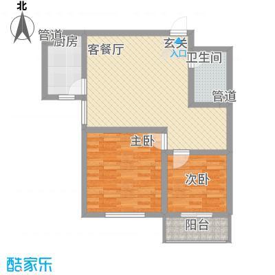 裕丰惠泽园87.38㎡B户型2室1厅1厨