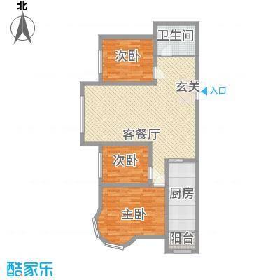 特变・水木融城118.00㎡标准层D1#户型3室2厅1卫1厨