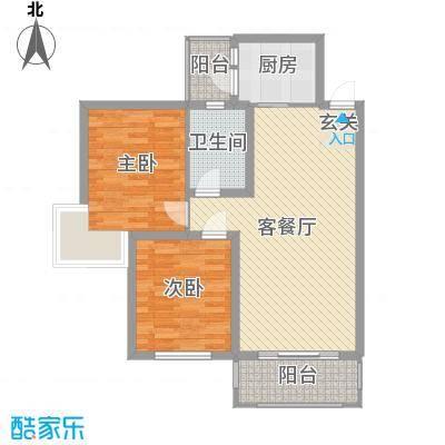 新景花园2011011216080410748户型3室2厅2卫1厨
