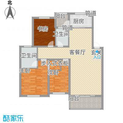 海山路水务宿舍gw_hx2户型3室2厅2卫1厨
