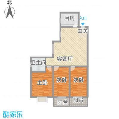 东昌盛新区133.61㎡太原户型