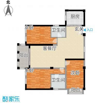 龙门世家7户型3室2厅2卫1厨