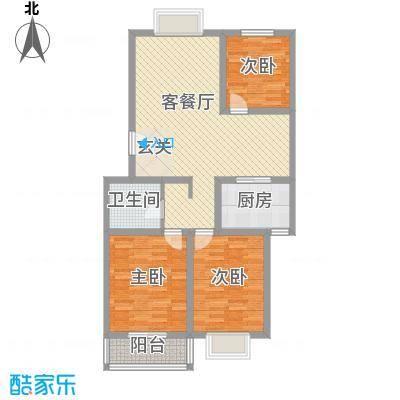 温泉公寓17.00㎡A107户型3室2厅1卫1厨