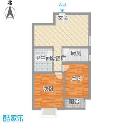 东昌盛新区87.13㎡太原户型