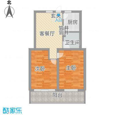 金润花园72.10㎡户型2室1厅1卫