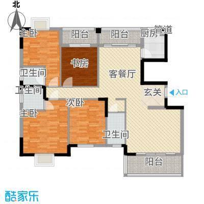 古龙翰林阁166.00㎡D户型4室2厅3卫1厨