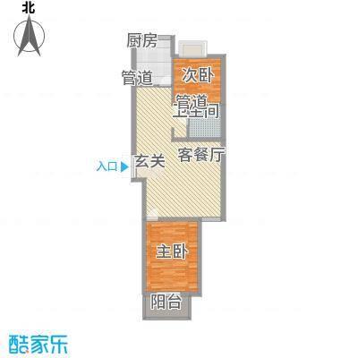 南环国际名邸14.53㎡4-01户型2室1厅1卫
