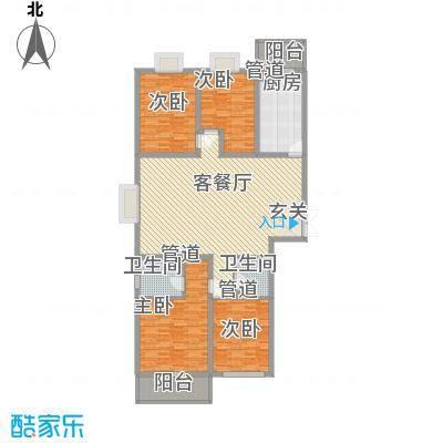 南环国际名邸188.34㎡4-03户型4室2厅2卫