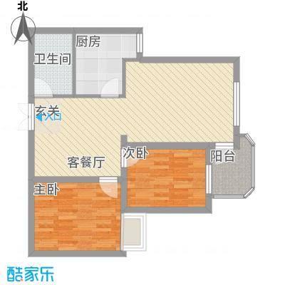嘉达花园18户型2室2厅1卫1厨