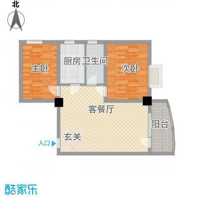 昌源胜景6.14㎡C户型2室2厅1卫1厨