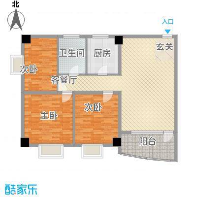 昌源胜景12.78㎡A户型3室2厅1卫1厨