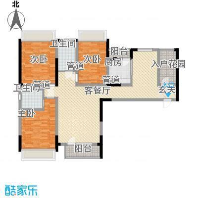 联发紫微花园145.00㎡户型3室