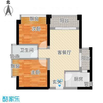高扬国际广场公寓户型1室1厅1卫1厨