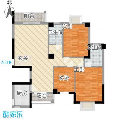 芸溪溪湖尚景131.00㎡H户型3室2厅2卫1厨