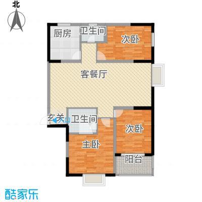 融馨苑141.70㎡14179户型3室2厅2卫1厨