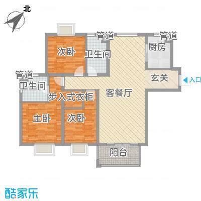 绿地・蓝海大厦户型3室
