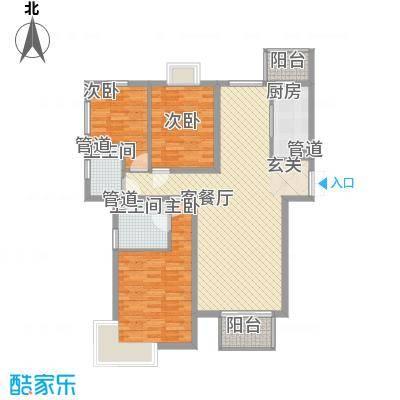 安溪大厦26户型3室2厅2卫1厨