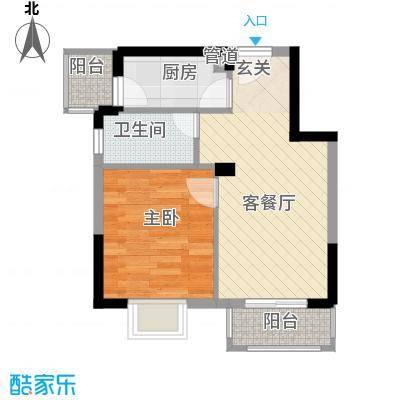 金汇上元1居室户型1室1厅1卫1厨