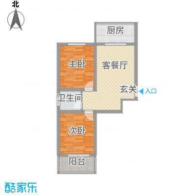 蔺高佳苑78.11㎡B3户型2室2厅1卫1厨