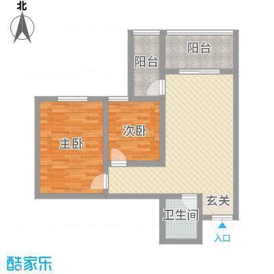 蔺高佳苑82.65㎡B5户型