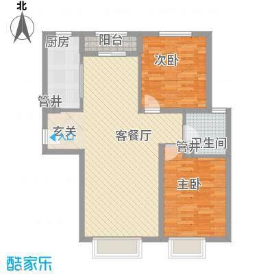 嘉农商贸城44.00㎡户型2室