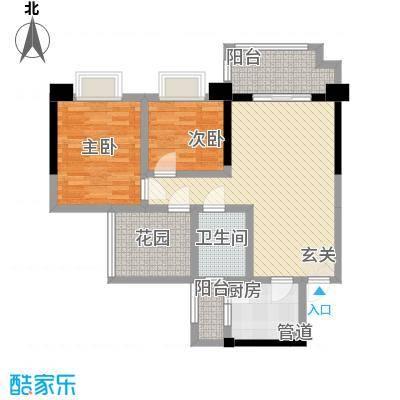 后炉祥福阁20090736710户型2室2厅1卫1厨