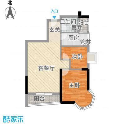 润田雅苑73.80㎡户型