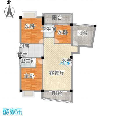泉舜新旺府145.00㎡2#A梯标准层01户户型3室2厅2卫1厨