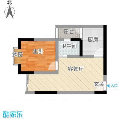 志龙大厦36.26㎡户型1室1厅1卫1厨