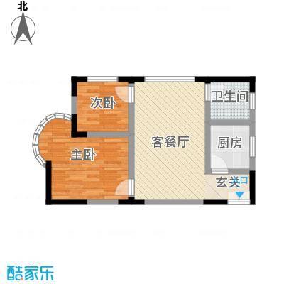 志龙大厦56.40㎡户型2室1厅1卫1厨