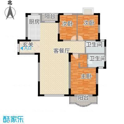恒润花园143.75㎡户型3室