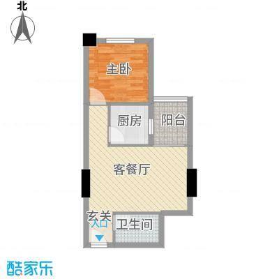 蓝山国际公寓58.00㎡户型
