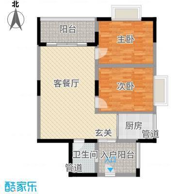 鸿福新村户型2室1厅1卫1厨