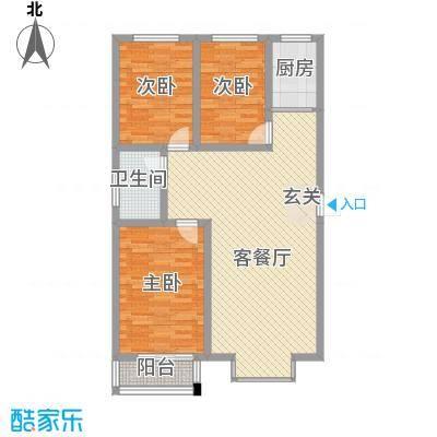 四季阁20101009020141963户型3室2厅2卫1厨