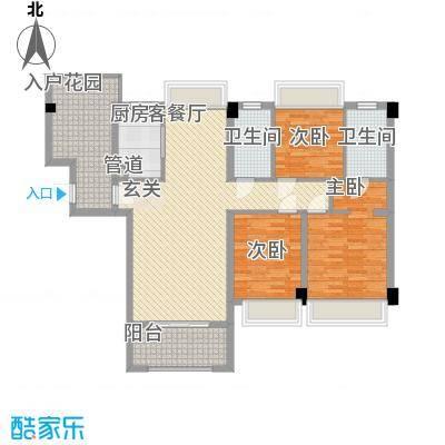 敬贤公园户型3室2厅2卫1厨