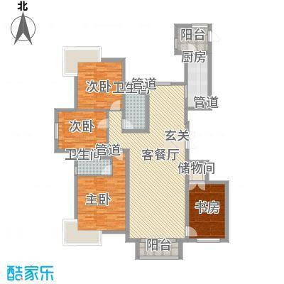 蓝天海岸(金海苑)蓝天海岸2户型3室2厅2卫1厨