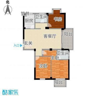 富山花园紫荆苑12759007814c0cb36d1b163户型3室2厅